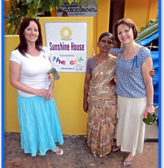 Heidi Bingham and Jo Brock visit the Hope Charity and Sunshine House project in India