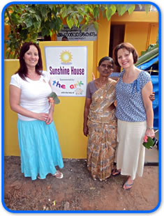 Heidi Bingham and Jo Brock visit the Hope Charity and Sunshine House in India